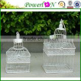 New Antique Metal Set Of 2 Pcs Wrough Iron Bird Cage Garden Ornament For Wedding Decoration J13M TS05 X00 PL08-5846