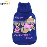 500ml bear knit hot water bottle cover