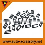 Chrome adhesive tape plastic 3d sign letters & numbers
