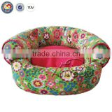 QQ Pet Factory Wholesale High Quality Dog Cave Bed & Sofa Shaped Pet Bed For Dogs & Luxury Lounger Pet Bed
