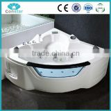Indoor Whirlpool Massage Bathtub with Glass and Holder 1350*1350*670mm