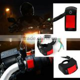 "New motorcycle fog light switch 7/8"" handlebar ON/OFF button bullet connector 12v DC electrical system Hot Selling"