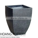 Wholesale Fiber Stone Terrazzo Pot Made in Vietnam