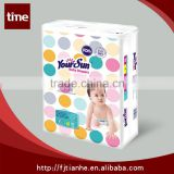 High-tech machines produced excellent dry surface disposable PE backsheet film baby diaper with PP tape