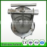 China Hot sales hole type honey equipment stainless steel honey press machine/Bee Wax Presser for beekeeping