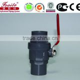 UPVC two pieces ball valve with IRON/ABS handle(socket/thread)
