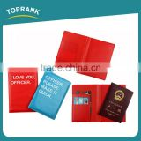 Toprank Multifunction Foldable PU Leather Travel Organizer Passport Wallet Card Holder Travel Passport Cover For Promotion
