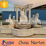 big horse fountain marble large outdoor water fountains NTMF-S510S
