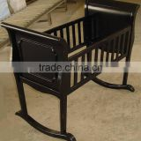 Bisini new arrival black color baby cradle, antique baby swing bassinet/cradle - BF07-70350B