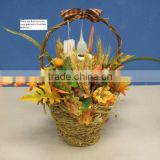 bamboo rattan wicker paper rope water-hyacinth sisal moss weaven gift floral basket