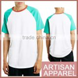 latest contrast colors mens pure cotton t shirt with Round Neck Wholesale t Shirt supplier from china