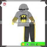 2017 baby wholesale children's toddler boy clothing hoodies + pants custom kids clothes set