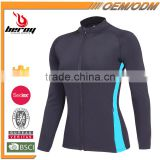 Beroy Custom Long Sleeve Zip Up Workout Jacket, Fitness Tracksuit Jogging Tops Running Jacket