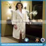 T/C blend waffle bathrobes, luxury white waffle robes in kimono collar style for hotels, motels, spas