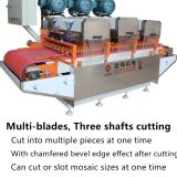 multi-blades tile cutting machine three heads