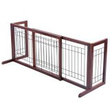 Wood Dog Gate Adjustable Indoor Solid Construction Pet Fence