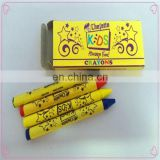 Custom wholesale colorful 4 pack promotional kids wax crayon
