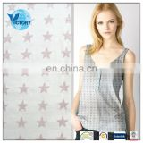 65%Polyester 35%Cotton Burnout Single Jersey Knit Fabric Wholesale for Garment or T shirt