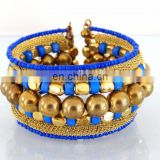 Pearl beaded wholesale Fashion bangle-Kada-Bracelets-Indian imitation costume cuff bracelet-party wear cuff bracelet