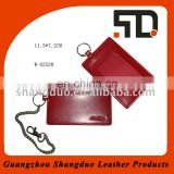 Quality Handmade Red Genuine Leather Name Tag for Sale