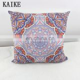 Custom travel pillow printing sofa chair embroidered cushion covers
