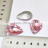 mobile phone case accessories 25mm teardrop pink rhinestone decoration DIY phone decoration