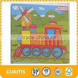 alibaba china gold suppliers baby toys cheap price diy children wood train track wooden square puzzle