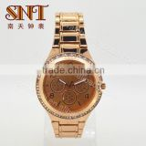 New fashion alloy watch lady watch with rose gold color