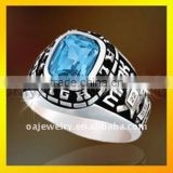 best price silver class rings to friendship with stone 3D design ring