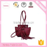 Fashion Womens Pu Leather Handbag Lady's Line Tote Bags