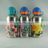 450ml double wall small mouth stainless steal water bottle with custom pattern and logo design