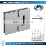 12mm toughened glass to glass hinge/adjustable shower glass door hinges/shower door hinges