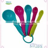 4pcs Colored Plastic Coffee Measuring Spoon set and measurer spoons