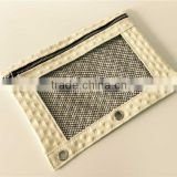 Osini custom 3D Diamond pattern 3-Ring binder with mesh window cosmetic / pencil / zipper bag for girls & office