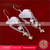 Silver plated wholesale indian jhumka earrings LKNSPCE225