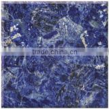 Chinese luxury blue gems stone for wall cladding and reception desk
