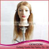 New arrival human hair training mannequin head for beauty hair schools