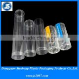 custom clear disposable plastic cylinders