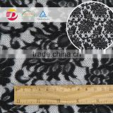 2016 fancy black embroidery 100 polyester material lace