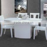 Modern Elegant White Color High Gloss Dining Table Wood MDF Dining Table High Glossy Dining Table Set
