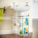 bathroom accessories 2 Tier Bathroom Under Basin Sink Storage Shelf Rack & Towel Rail BR01