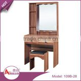 Foshan cheap simple design 1 chairs makeup dressers mirrored bedroom wood dressing table