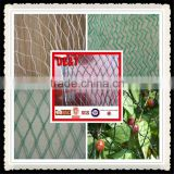 2016 new plastic bird nets for catching birds, knitted anti bird net, virgin hdpe anti bird net