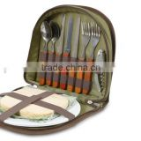 Outdoors Picnic Set for 2 - Compact wallet to fit basket or bag. With board, opener, napkins