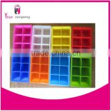 8 Bar Square Silicone soap Molds with high quality
