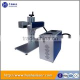 Mini portable fiber laser bird ring laser marking machine for metal gold jewelry engraving