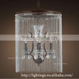 retro Atmospheric big luxury crystal hotel pendant light, new products 2016 innovative vintage chain chandelier