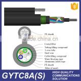 2 4 6 12 24 48 60 72 96 144 core Outdoor single mode amored self support aerial GYXTC8S Center Tube Fiber Optic Cable