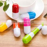 2016 Hotsell Retractable Pen capsule shape ballpen Pill shape pen for medical shop promotional