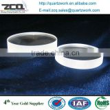 Thin quartz fused silica glass sheet circular shape quartz wafer